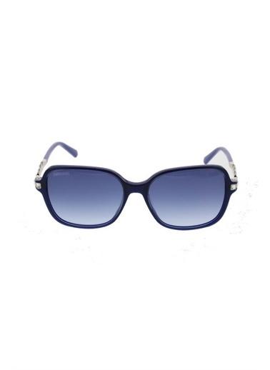 Swarovski Sk 0265/S Col 90W 55-16-140 Kadın Güneş Gözlüğü Mavi